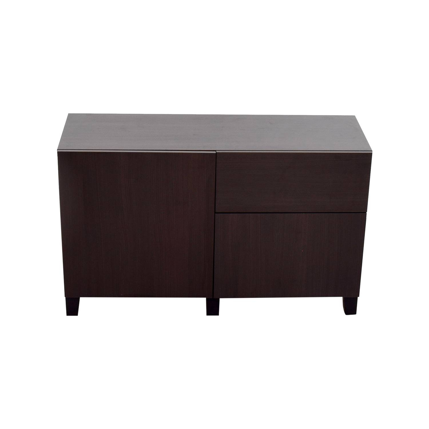 Inspiration about 39% Off – Ikea Ikea Dark Brown Storage Sideboard / Storage Regarding Dark Brown Sideboards (#6 of 15)