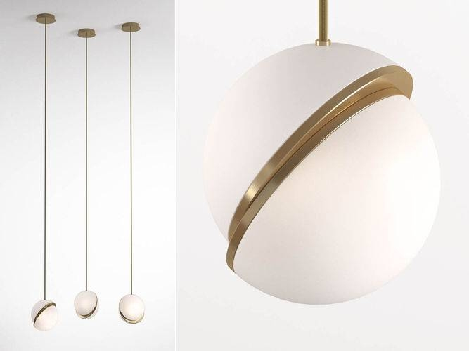 3D Crescent Pendant Light | Cgtrader Intended For Current Crescent Pendant Lights (#2 of 15)