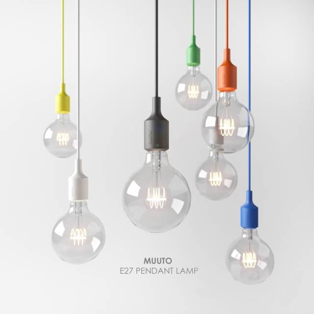Inspiration about 3D Models: Ceiling Light – Muuto, E27 Pendant Lamp In Most Popular E27 Pendant (#15 of 15)
