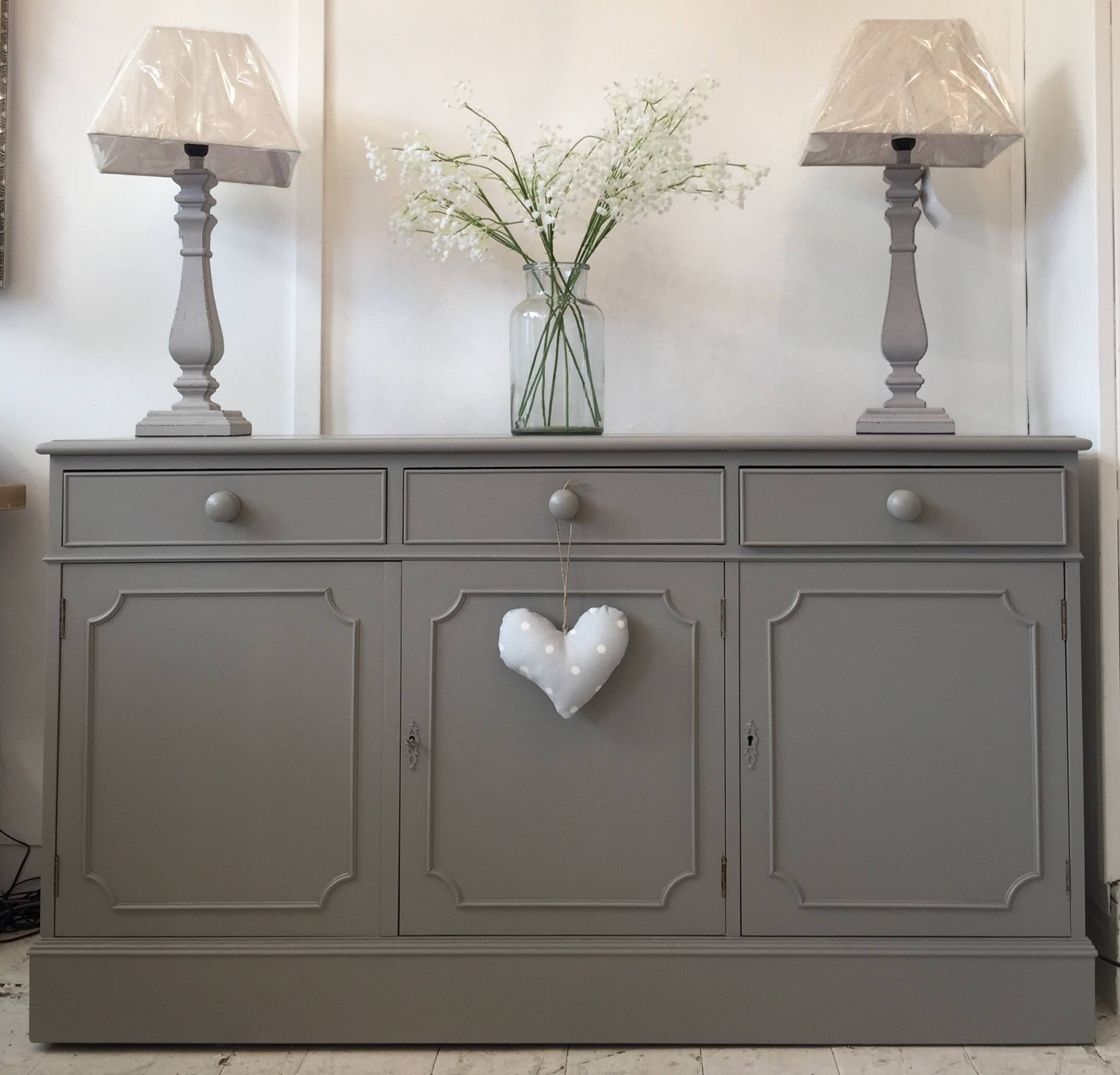 4Ft7'' Long Dark Grey Sideboard – Home Sweet Homehome Sweet Home For Dark Grey Sideboards (#1 of 15)