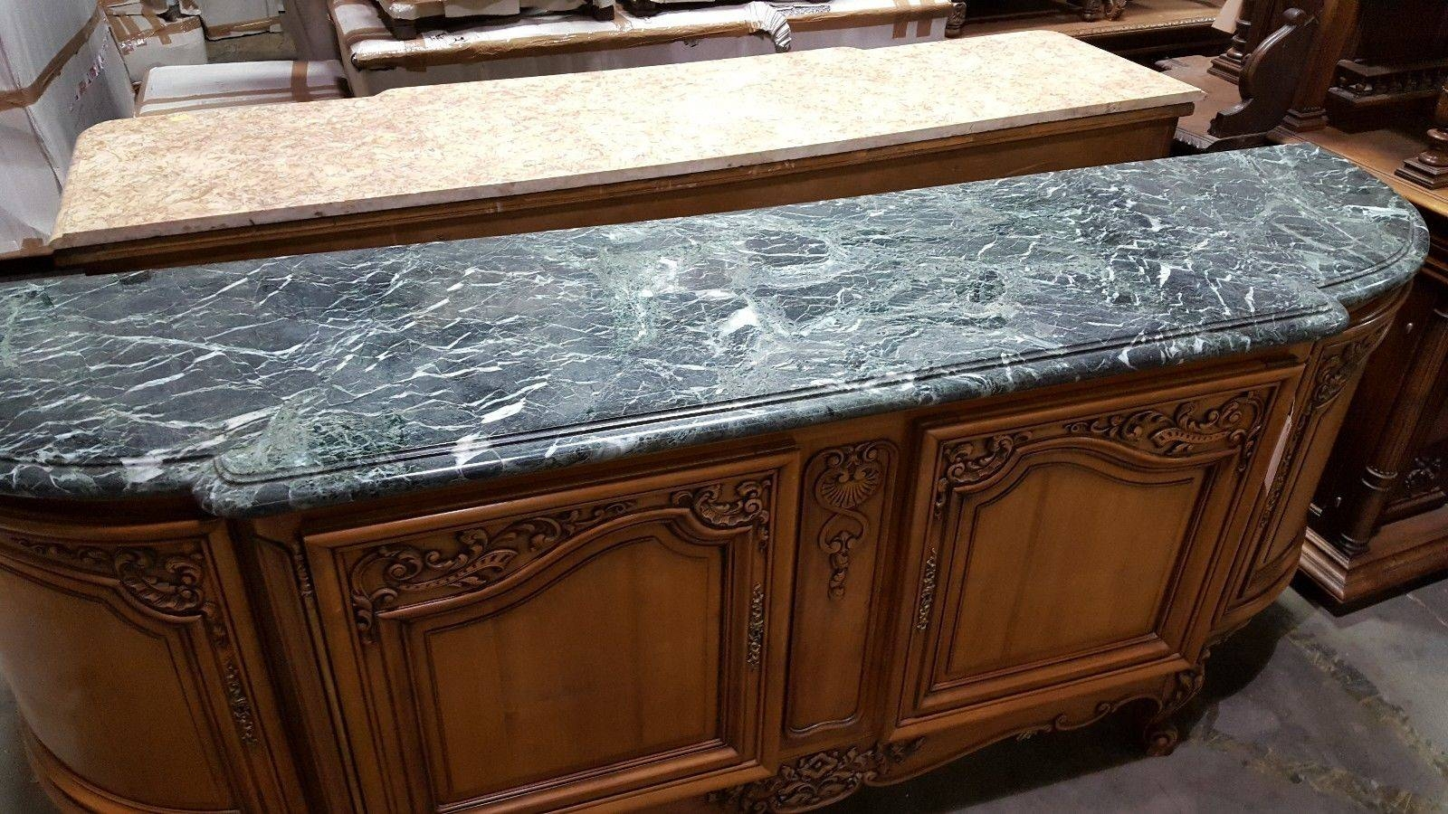 Inspiration about 5509008 : Antique French Louis Xv Marble Top Sideboard Buffet In Marble Top Sideboards And Buffets (#8 of 15)