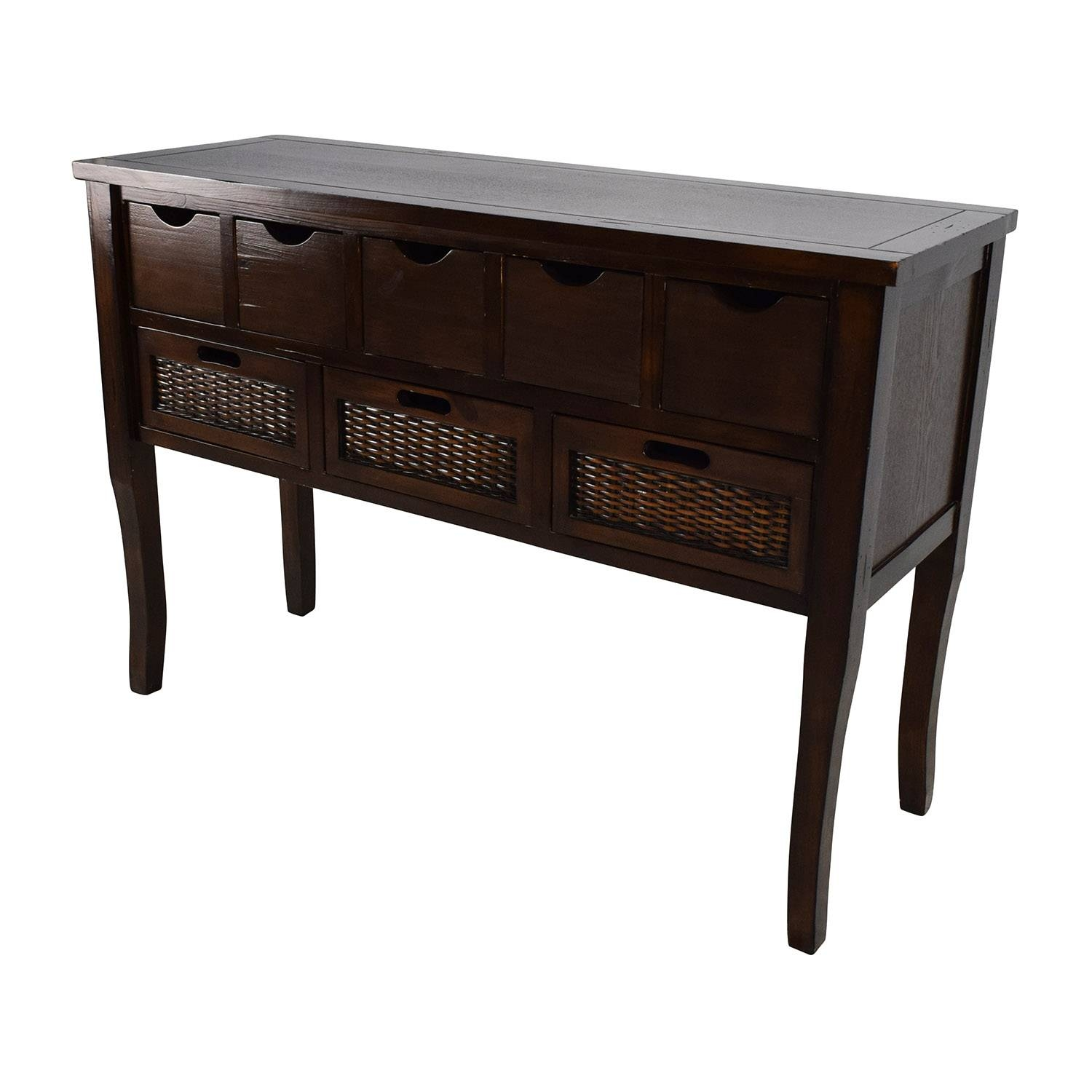 Inspiration about 65% Off – Unknown Brown Wood Multi Drawer Sideboard / Storage With Regard To Multi Drawer Sideboards (#5 of 15)
