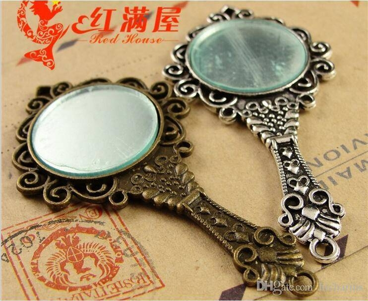 Inspiration about 68*35Mm Antique Bronze Mirror Charm For Bracelet, Metal Dangle Regarding Best And Newest Mirror Pendants (#12 of 15)