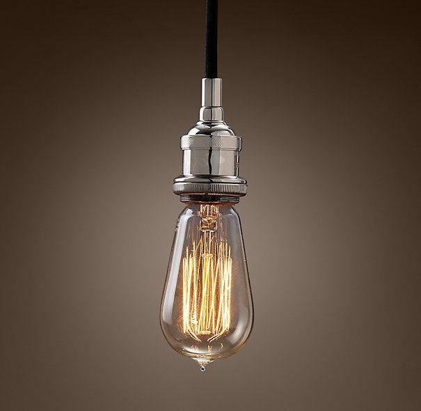 Popular Photo of Bare Bulb Filament Triple Pendants