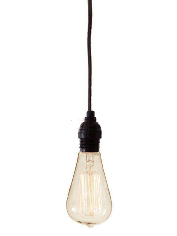 9 Best Lights Images On Pinterest | Pendant Lights, Plugs And Cage Within Bare Bulb Hanging Pendant Lights (View 14 of 15)
