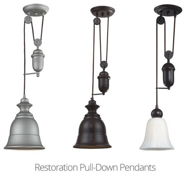 Adjustable Pendant Light | The Aquaria Inside Adjustable Pulley Pendant Lights (View 7 of 16)