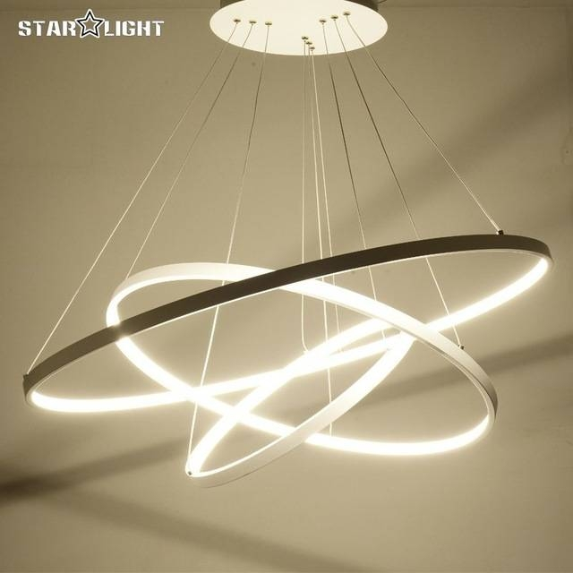Aliexpress : Buy 3 Ring Circles Modern Led Pendant Lights For Pertaining To Most Popular Modern Led Pendant Lights (#1 of 15)