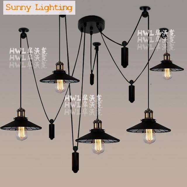 Aliexpress : Buy 5/6 Legs Novelty Spider Lamp Bar Loft Retro Within Recent Spider Pendant Lights (View 15 of 15)