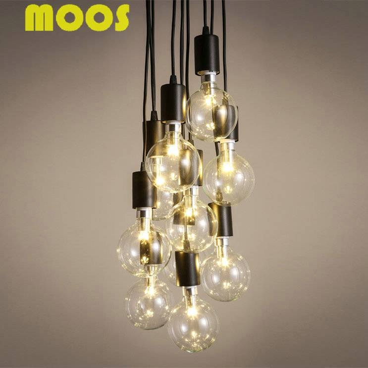 Aliexpress : Buy 6/8/10/12/14 Retro Spider Chandelier Pendant With Recent Multiple Bulb Pendant Lights (View 7 of 15)