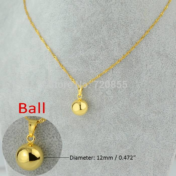 Aliexpress : Buy Anniyo Gold Color Ball Pendants & Necklaces Intended For Most Up To Date Gold Ball Pendants (#3 of 15)