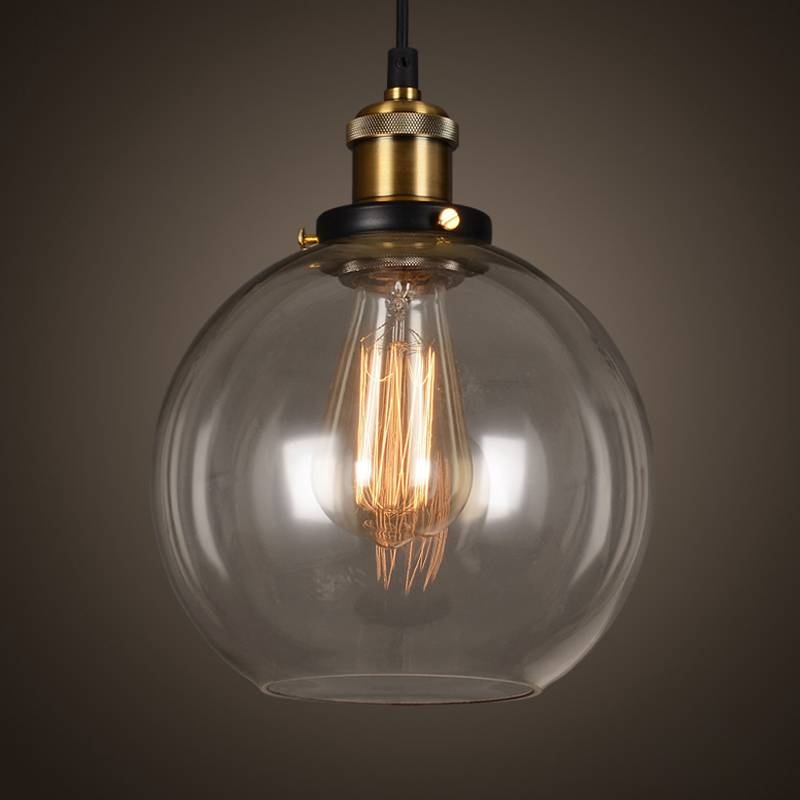 Aliexpress : Buy Antique Vintage Glass Pendant Lights Retro In Best And Newest Glass Bowl Pendant Lights (#1 of 15)