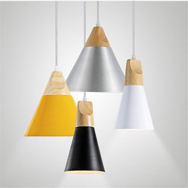Aliexpress : Buy Black/white/yellow/silver Aluminum Pendant Within Most Recent Yellow Pendant Lights (View 4 of 15)