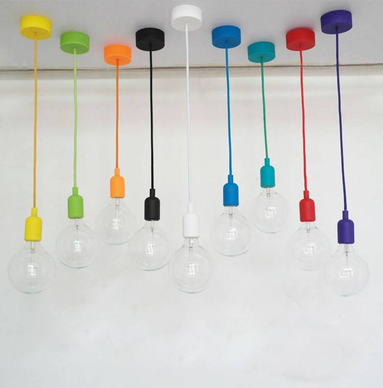 Aliexpress : Buy Colorful Pendant Lights E27 Silicone Lamp Inside Latest E27 Pendant Lamps (View 4 of 15)