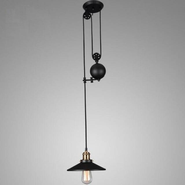 Aliexpress : Buy Dhl/ems/spsr Lukloy Loft Retro Pendant Light Inside Adjustable Pulley Pendant Lights (View 13 of 16)