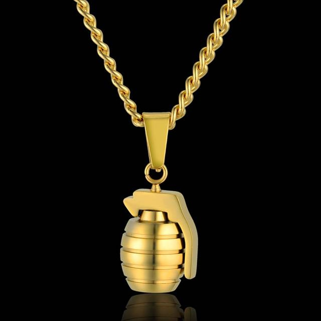 Aliexpress : Buy Hip Hop Men's Antitank Grenade Pendant Within Most Up To Date Grenade Pendants (#3 of 15)