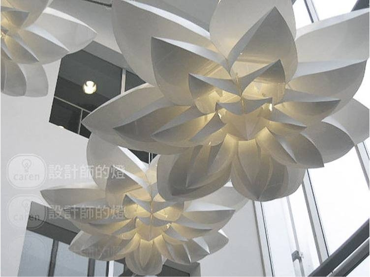 Inspiration about Aliexpress : Buy Huge!! 85cm Lily Handmade Pendant Lights Inside 2017 Huge Pendant Lights (#13 of 15)