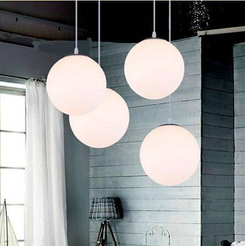 Aliexpress : Buy Indoor Glass White Ball Pendant Lamps Dining Pertaining To Most Recent Ball Pendant Lamps (View 1 of 15)