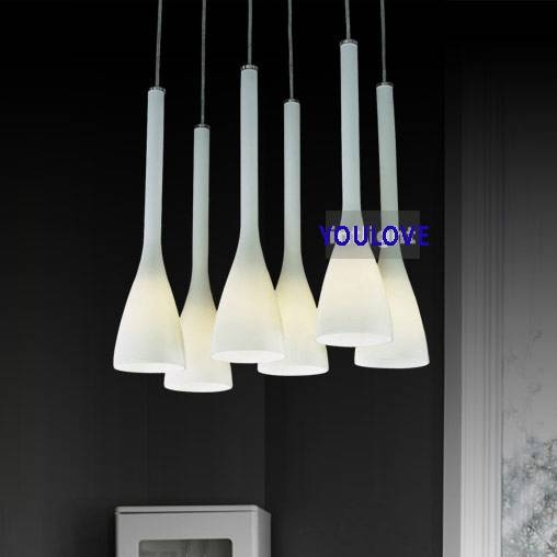 Aliexpress : Buy Italian Magnolia Flower Hanging Lamps Modern For Most Recent Modern Glass Pendant Lighting (View 13 of 15)