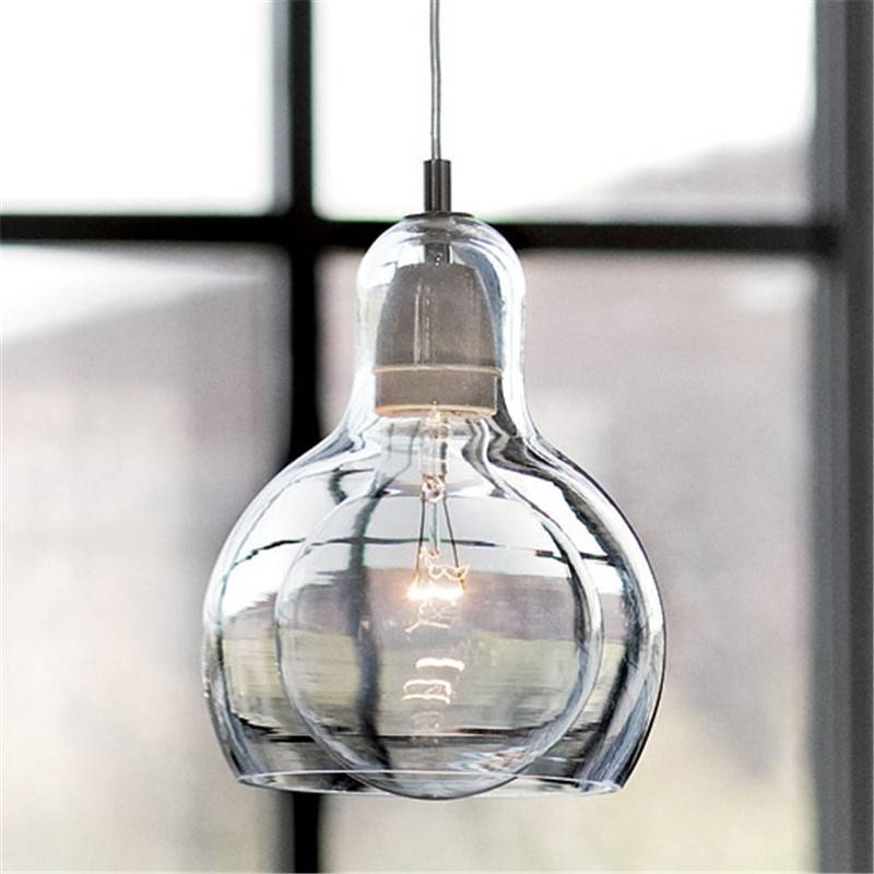 Aliexpress : Buy Modern Led Light Fixtures Amber/transparent In Best And Newest Modern Glass Pendant Lights (#1 of 15)