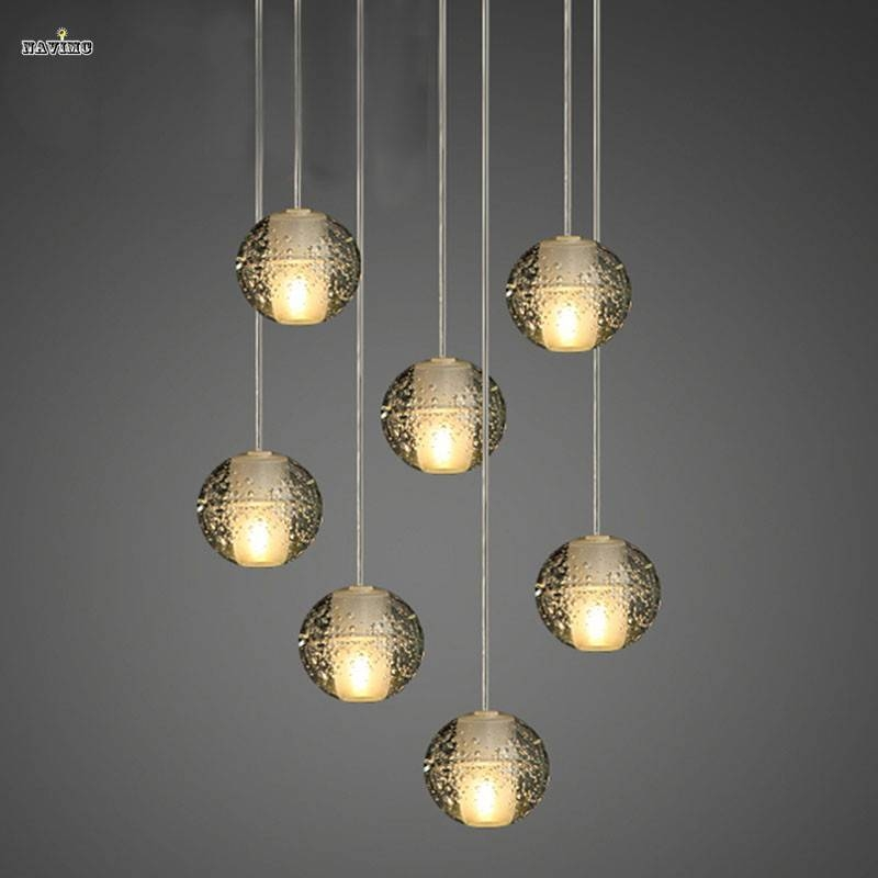 Aliexpress : Buy Modern Magic Ball Led Crystal Bubble Glass Intended For Most Popular Bubble Pendant Lights (#2 of 15)
