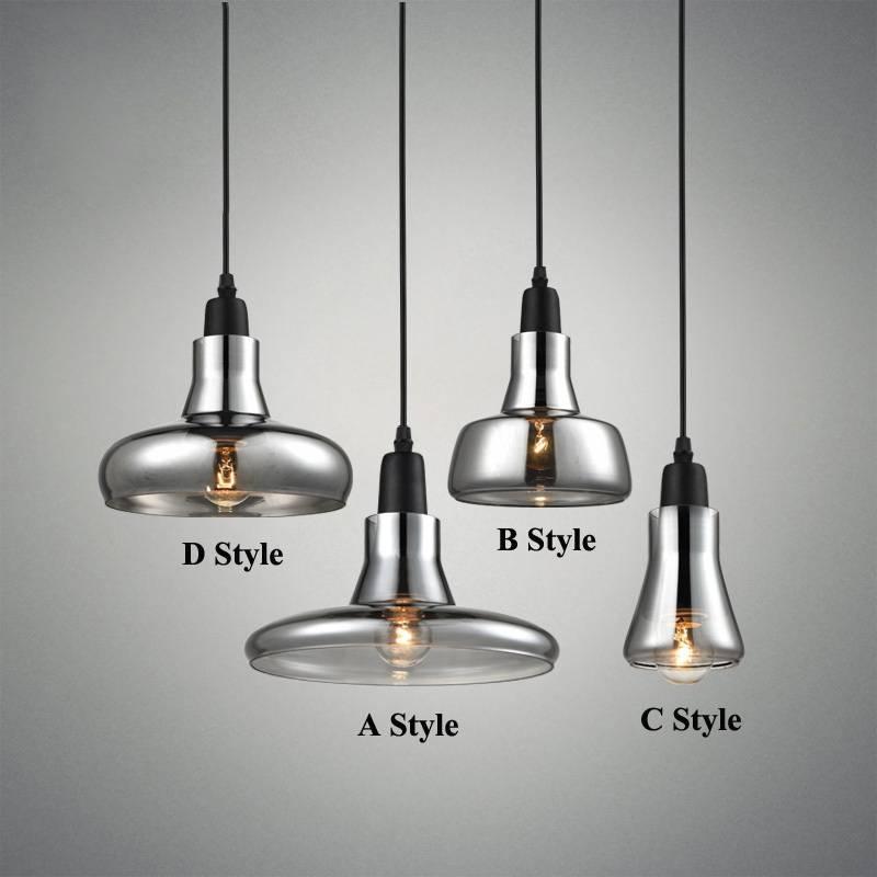 Aliexpress : Buy Modern Smoke Gray Glass Pendant Lights For For 2018 Designer Glass Pendant Lights (#1 of 15)