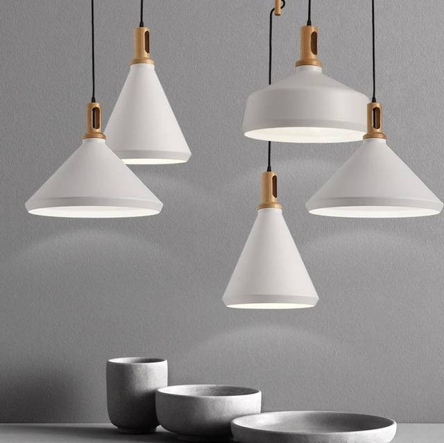 Aliexpress : Buy Nordic Modern White Pendant Lights Fixture Pertaining To Most Popular Modern White Pendant Lights (View 11 of 15)