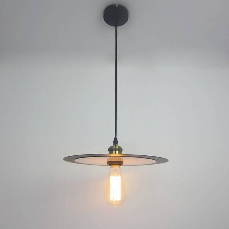 Aliexpress : Buy Nordic Vintage Metal Pendant Lights Creative With Most Recently Released Saucer Pendant Lamps (#1 of 15)