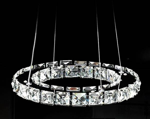Aliexpress : Buy Promotion 40cm Raimond Ring Crystal Throughout 2018 Crystal Led Pendant Lights (View 14 of 15)