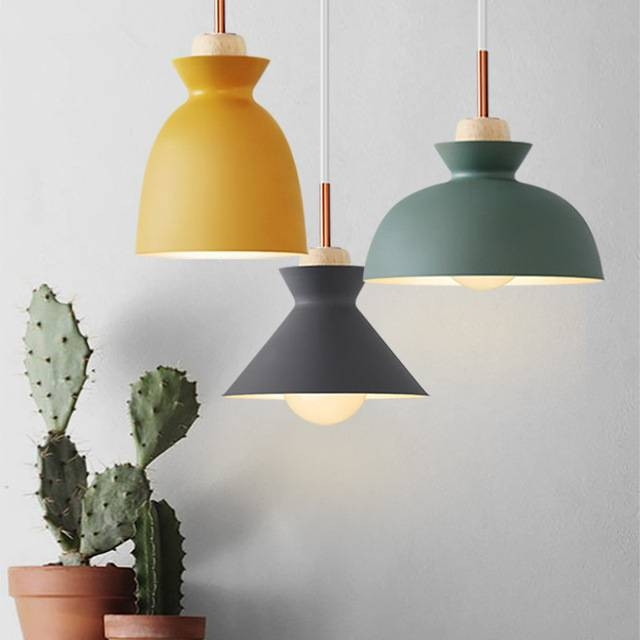Aliexpress : Buy Scandinavian Modern Colorful Pendant Light Throughout Recent Scandinavian Pendant Lighting (#1 of 15)