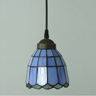 All Blue Pattern 5 Inch Mini Hanging Pendant Lighting In Tiffany Pertaining To 2017 5 Inch Pendant Lights (View 11 of 15)