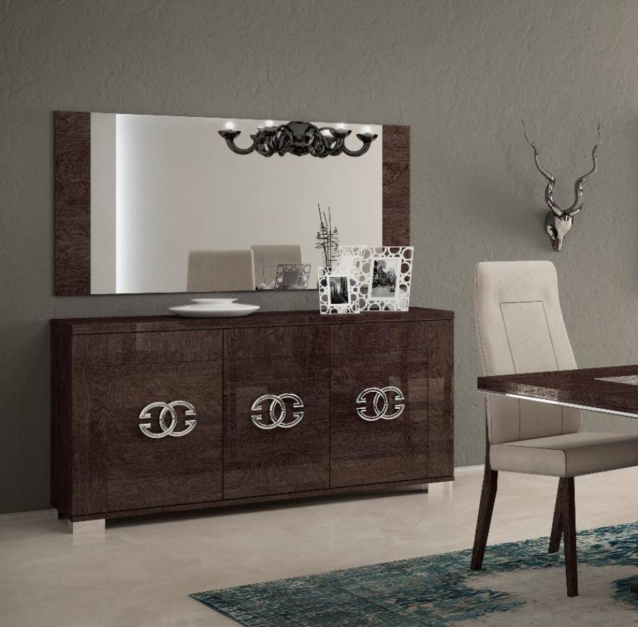Amazing Design Modern Sideboard Ideas With Dark Brown Color Wooden Throughout Dark Brown Sideboards (View 11 of 15)
