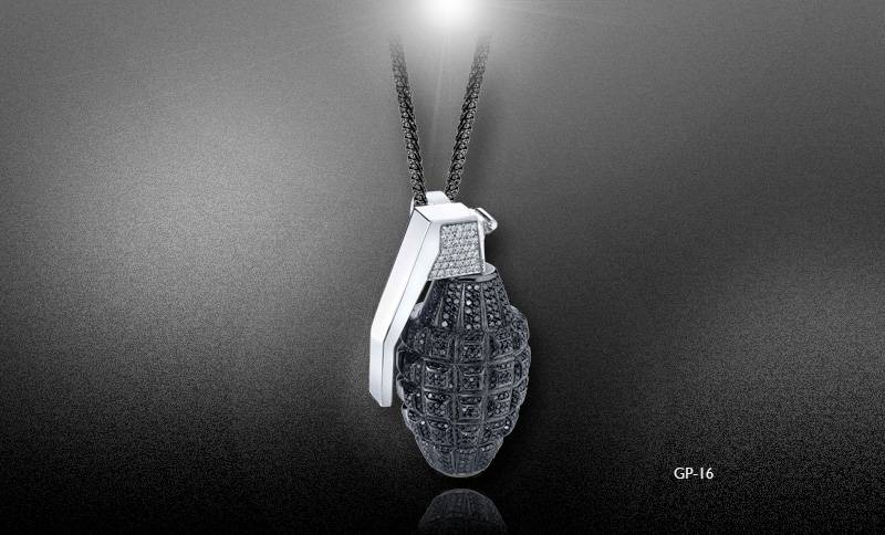 Amazing Men's Pendants From Jason Arasheben | General Valentine Within Most Up To Date Grenade Pendants (#4 of 15)
