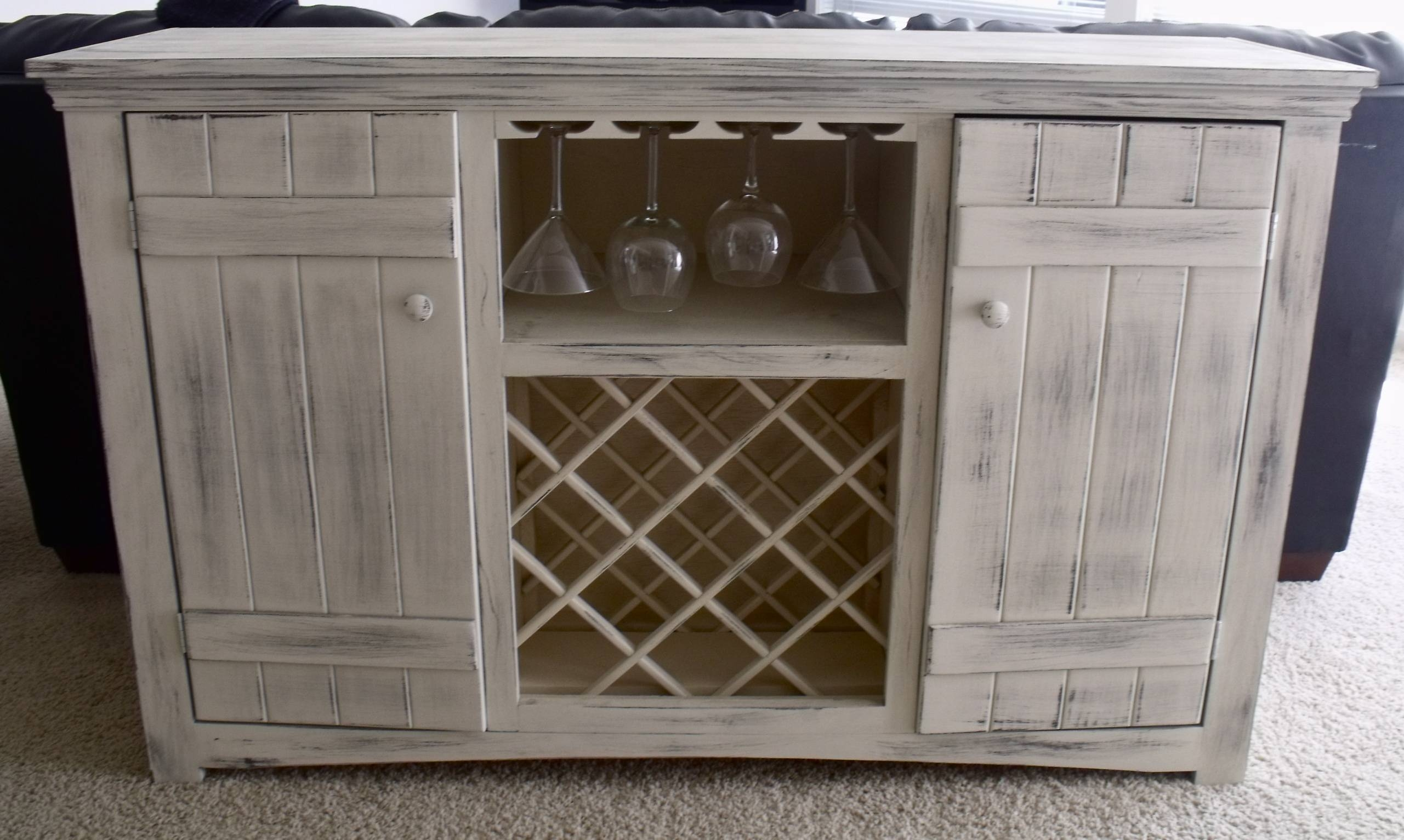 Popular Photo of White Sideboards With Wine Rack