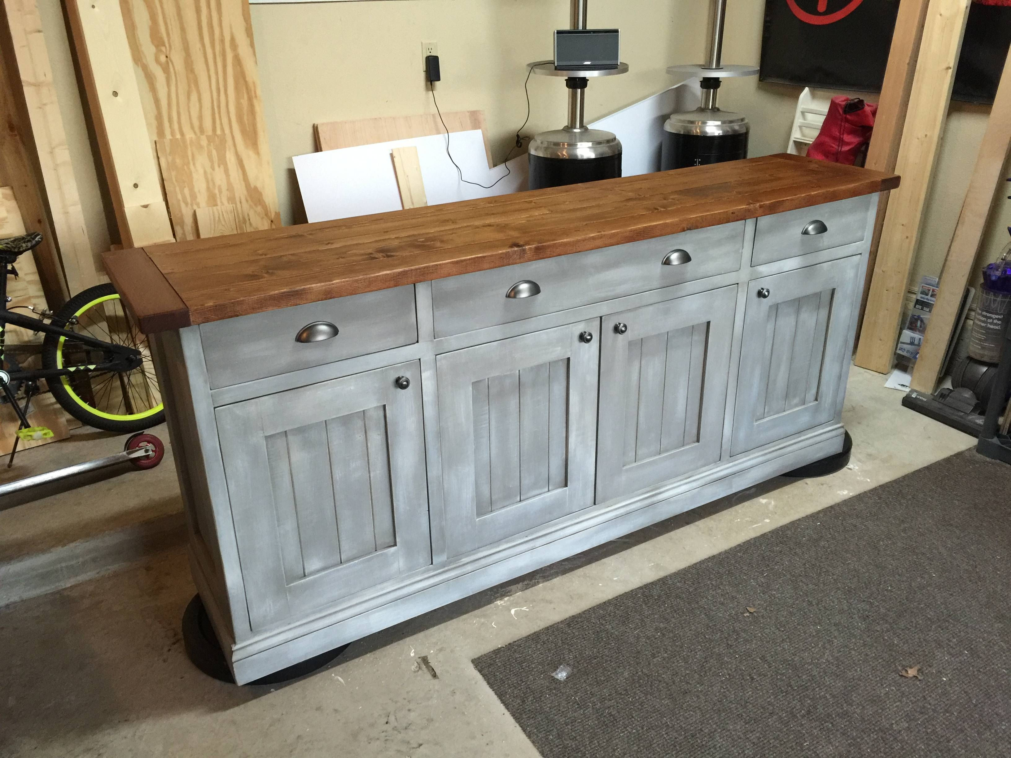 Ana White | Planked Wood Sideboard – Diy Projects Inside Distressed Wood Sideboards (View 14 of 15)