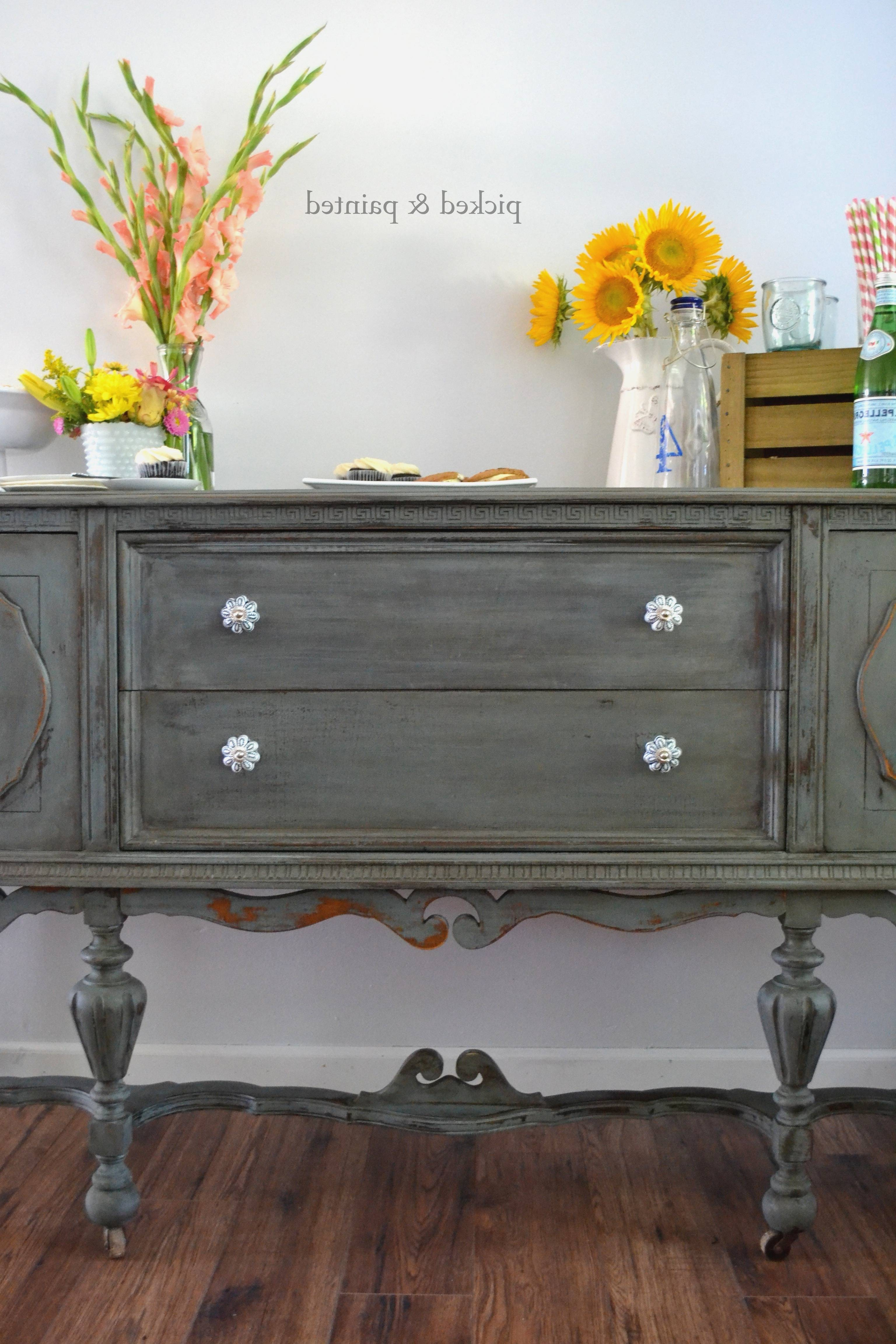 Popular Photo of Stylish Antique Sideboards And Buffets