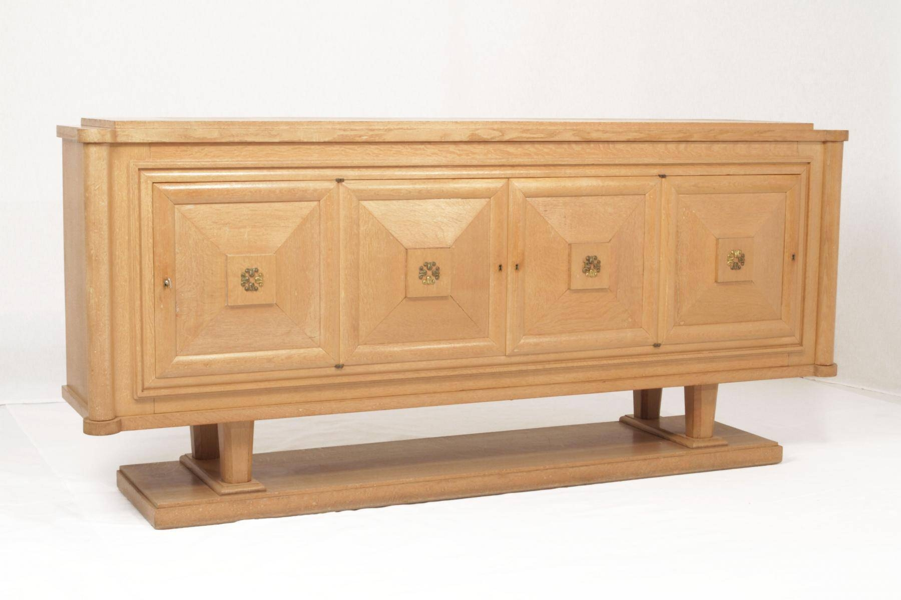 Art Deco Oak Sideboardgaston Poisson For Sale At Pamono Inside Large Oak Sideboards (#2 of 15)