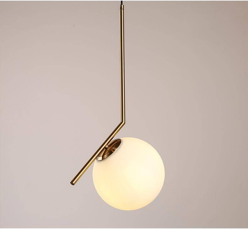 Artemide Pendant Lamp Nordic Milk White Glass Ball Pendant Light In Current Artemide Pendants (#6 of 15)