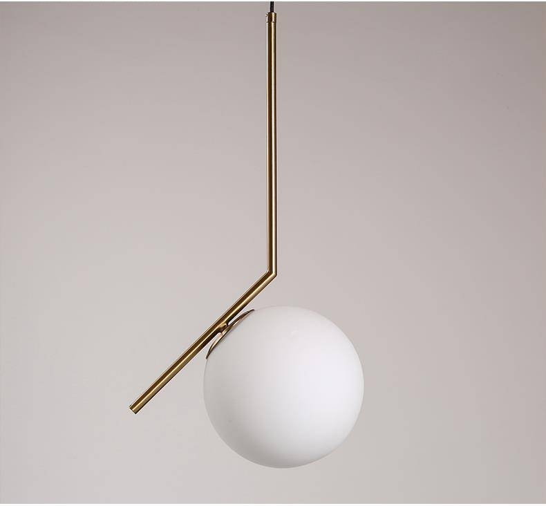 Artemide Pendant Lamp Nordic Milk White Glass Ball Pendant Light Throughout Most Recently Released Artemide Pendant Lights (#4 of 15)