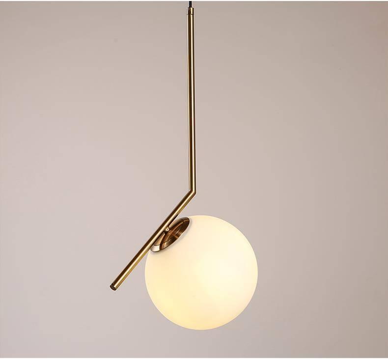 Artemide Pendant Lamp Nordic Milk White Glass Ball Pendant Light Within Most Popular Artemide Pendant Lights (#5 of 15)