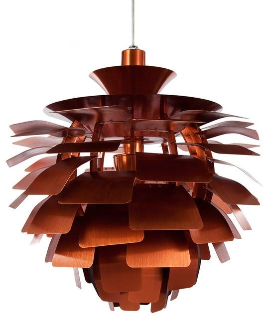 Artichoke Pendant Leaf Smaller Lamp, 80 'leaves' – Midcentury For Most Popular Artichoke Pendant Lights (View 4 of 15)