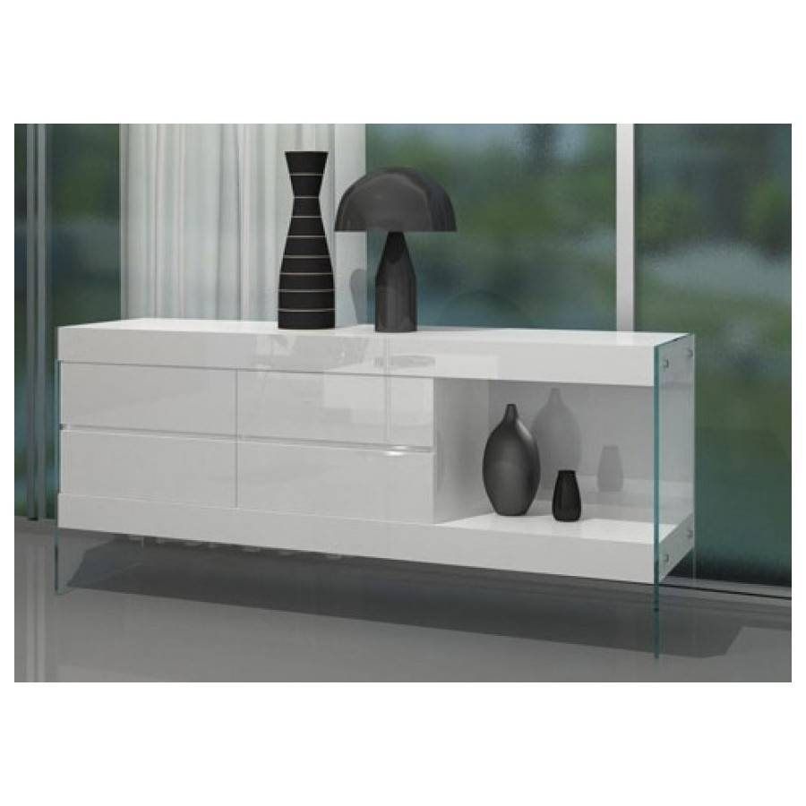 Aura Floating White Buffetvig Furniture – All World Furniture Intended For Gloss White Sideboards (View 9 of 15)