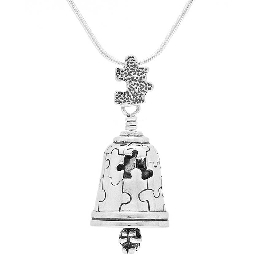 Autism Bell Pendant – The Bell Collection Pendants With Recent Bell Pendants (#6 of 15)