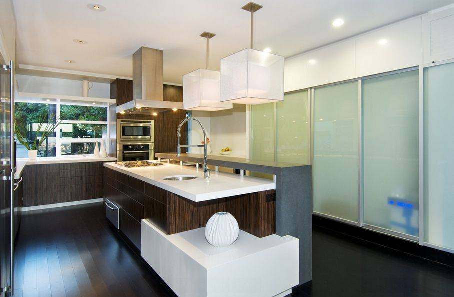 Awesome Modern Lighting Over Kitchen Island Kitchen Modern With Newest Modern Pendant Lights For Kitchen (#3 of 15)