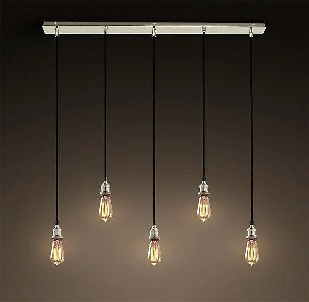 Bare Bulb Hanging Pendant Light Lights Fixture Plug Kitchen With Bare Bulb Hanging Pendant Lights (View 11 of 15)