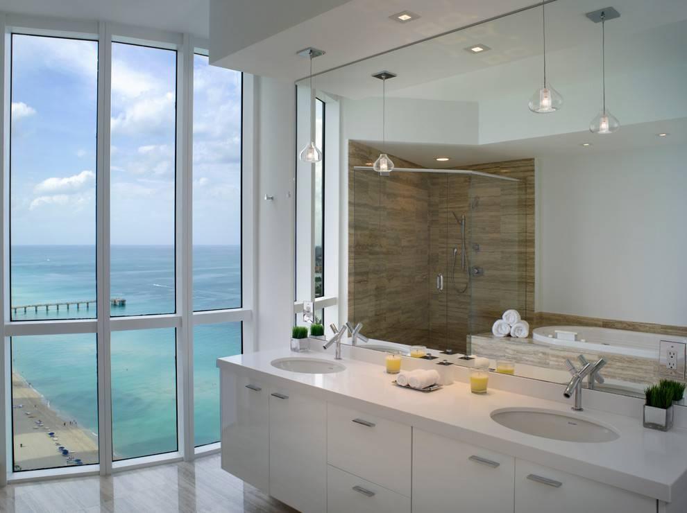 Bathroom Pendant Lighting Bathroom Modern With Bathroom With Recent Modern Bathroom Pendant Lighting (#3 of 15)