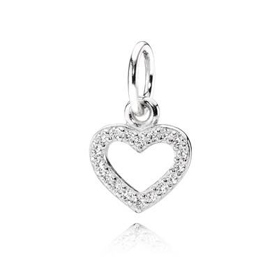 Be My Valentine Pendant, Clear Cz – 390325Cz – Necklaces And With Regard To 2017 Valentine Pendants (#8 of 15)