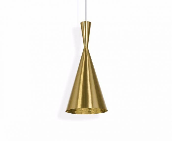 Beat Tall Brushed Pendant | Pendant Lights | Tom Dixon With Best And Newest Tom Dixon Brass Pendants (#3 of 15)