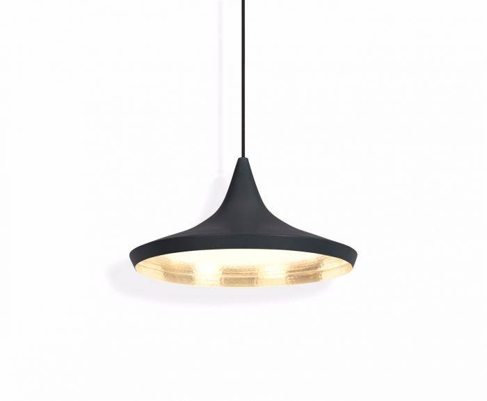 Beat Wide Black Pendant | Pendant Lights | Tom Dixon For 2017 Tom Dixon Beat Pendants (#9 of 15)