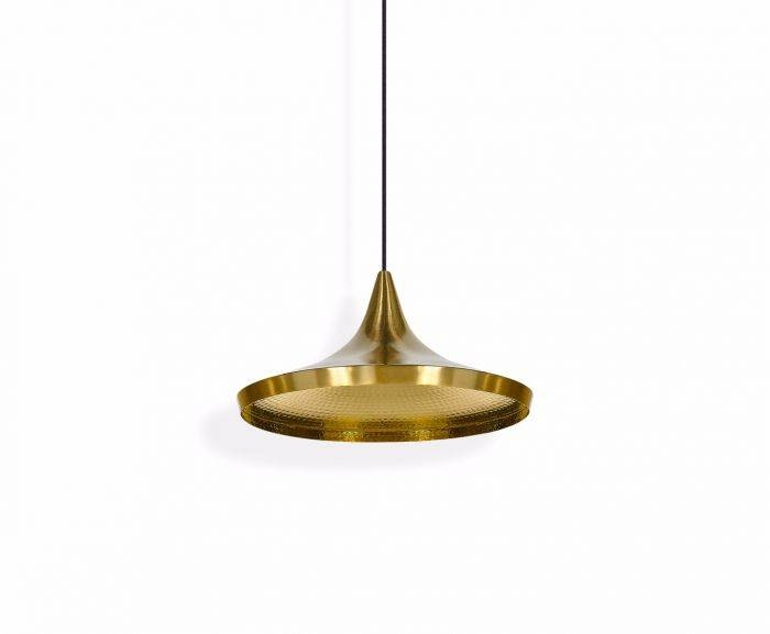 Beat Wide Brushed Pendant | Pendant Lights | Tom Dixon With 2018 Tom Dixon Brass Pendants (#4 of 15)