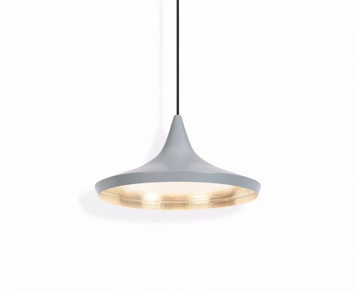 Beat Wide Grey Pendant | Pendant Lights | Tom Dixon Regarding Current Tom Dixon Pendant Lights (#5 of 15)